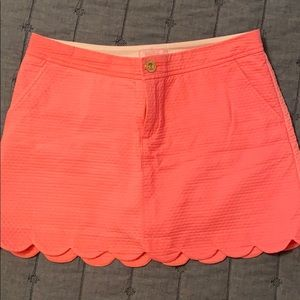Lily Pulitzer scalloped skort